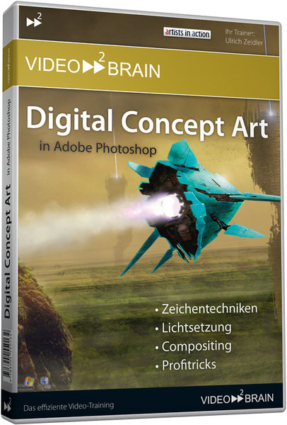 Digital Concept Art In Adobe Photoshop Dvd Rom Software